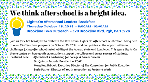 Lights On Afterschool Lights On Afterschool Leaders Breakfast