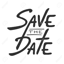 Save The Date Invite Card Vector Template With Modern Calligraphy