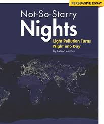 """inside language literacy and content level c   illustration of the title page of the selection """"not so starry nights"""""""