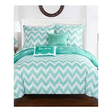 Best 25+ Aqua comforter ideas on Pinterest | Coral comforter set ... & Chic Home Foxville Pinch Pleated and Ruffled Chevron Print Reversible,  Includes Hashtag Pillow and Pom Pom Velour pillow Twin X-Long Bed In a Bag  Comforter ... Adamdwight.com