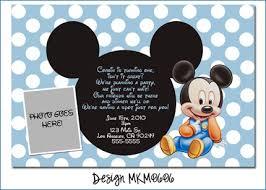 baby mickey mouse invitations birthday baby mickey mouse birthday invitation card domaindir info