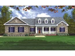 ranch style house plans. Traditional Country Style Home With Covered Front Porch And Dormers Ranch House Plans P