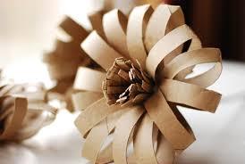 Recycled Flower Paper Diy Cardboard Paper Tube Flowers