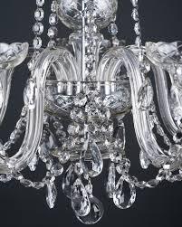 czechoslovakian crystal chandeliers pair antique lighting