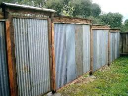 corrugated metal fence panels diy steel designs photos wrought iron design fencing large size of seen