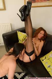 Pussy loving Lara Latex and Rachel having hot girl on girl sex.