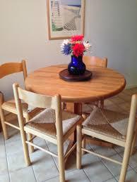 round butcher block table