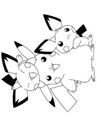 Pokemon Paradijs Kleurplaat Pikachu En De Pichu Bros