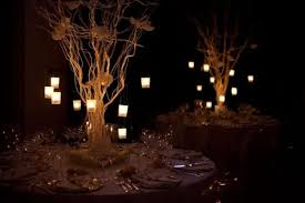 Wedding table lighting Buffet Tea Lights Hung From Branches In Centerpiece Dhgatecom Wedding Lighting That Makes Statement Mywedding