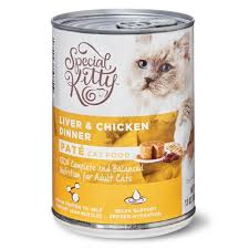 Special Kitty Liver & Chicken Dinner Pate Wet Cat Food, 13 oz ...