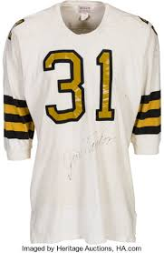 Heritage amp; Orleans Auctions Jim New 1967 Lot Saints Worn Signed Jersey 82233 Taylor Game -