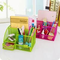 cheap multi function metal iron desktop storage box makeup organizer drawer stationery pen holder office cheap office drawers