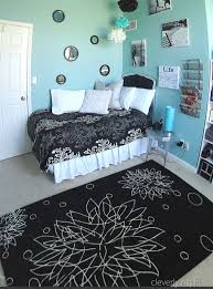bedroom ideas for teenage girls black and white. Contemporary For Black White And Aqua Bedroom Ideas  Pictures Inside For Teenage Girls
