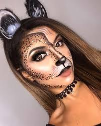 half feline cat makeup for