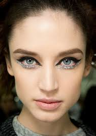 take a leaf from dries van notens book and pop a blue sparkly liner for an instant high fashion look