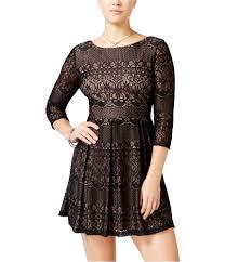 B Darlin Size Chart Details About B Darlin Womens Lace A Line Dress Blacknnude 0 Juniors