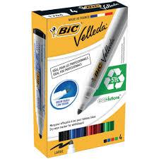 BiC Marqueur pour tableau blanc Velleda® 1701 couleurs assorties ...