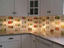 Ceramic Kitchen Backsplash Kitchen Backsplash Ideas With White Cabinets Steel Pull Handle