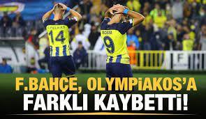 Fenerbahçe, Olympiakos'a farklı kaybetti! - Tüm Spor Haber