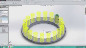 Circular Pattern Solidworks Beauteous SolidWorks Baby Steps 48 Linear And Circular Patterns Part I YouTube