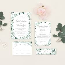 Wedding Invitation Downloads Eucalyptus Wedding Invitation Pdf Diy Template