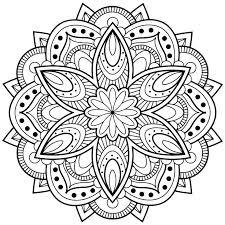 Mandalas Coloring Pages For Adults Free Printable Mandala Kids Adult