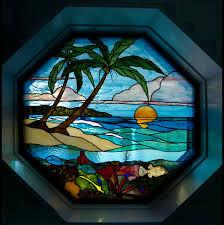 stained glass beach window octagon web size
