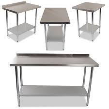 industrial commercial stainless steel kitchen food prep shelf work table bench stainless steel kitchen shelves o26
