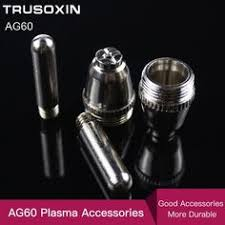 60pc pt31 lg40 air plasma cutter cutting consumable for cut30 40 50 consumables tips electrodes cups ring