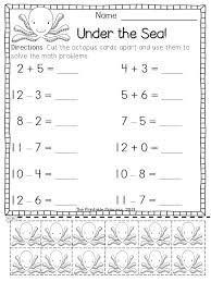 Basic Addition And Subtraction Worksheets For Kindergarten ...