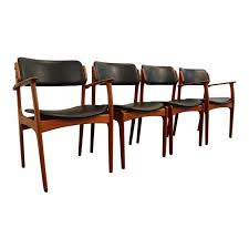 4 chair dining table set lovely erik buch for o d mobler teak dining chairs set
