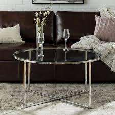 manor park modern round coffee table multiple finishes image 1 of 6
