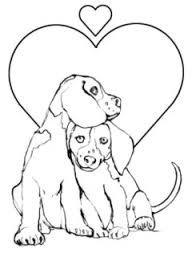 Kleurplaten Dieren Puppy Puppies Honden Tekeningen Small Bunny And