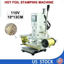 details about diy hot foil stamping machine business card foil logo embossing leather machine