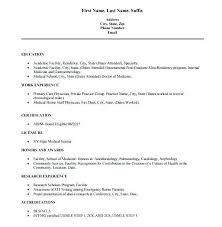 Physician Resume Template Fascinating Medical Resume Template Medical Physician Cv Template Word Armni