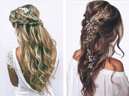 prom updos 2018 half up down curly hair in front photo 1