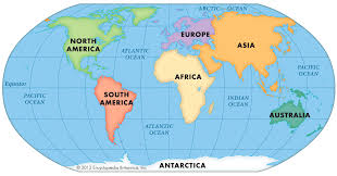 world map continents and oceans inside world map with continents