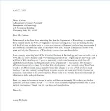 Ideas Collection Cover Letter Examples Penn State Simple Resume
