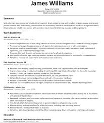 How To Write An Accounting Resume Examples Of Accounting Resumes