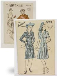 1940s Dress Patterns Amazing Womens 48's Sewing Patterns At RustyZipperCom Vintage Clothing