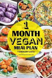 Vegan Grocery List For Beginners 1 Month Meal Plan Recipes