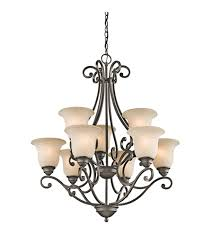 kichler 43226oz camerena 9 light 30 inch olde bronze chandelier ceiling light