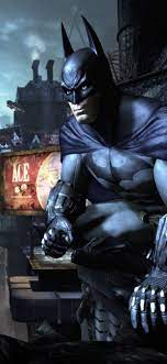 Batman, city, night, PC game 1242x2688 ...