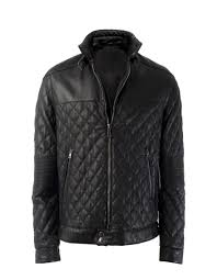 Zedes Quilted Leather Jacket - Leather4sure Men & Zedes Quilted Leather Jacket Adamdwight.com