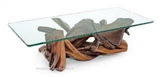 white stump coffee table
