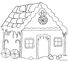 Loud House Coloring Pages Printable Hut Page Free Gingerbread Houses