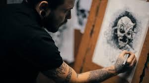 эскизы тату на черном фоне