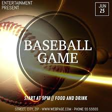 Baseball Brochure Template Video Brochure Template