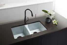 kohler cast iron sink. The Kohler Deerfield Enameled Cast Iron Kitchen Sink Has Received Modern Updates To Meet Homeowner Needs. A New 9-inch-deep Basin Increases Functional 3
