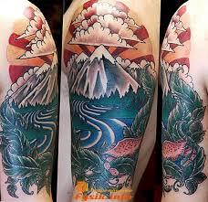 Tattoo Mountains 100 Nápadů Pro Dívky A Muže Hodnotu Nákresy